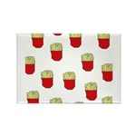 French Fries Dots Rectangle Magnet