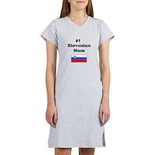 #1 Slovenian Mom Women's Nightshirt