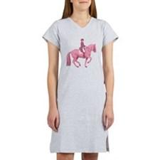 Pink Dressage Horse Women's Nightshirt