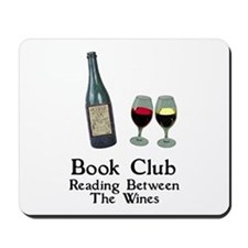Reading Between Wines Mousepad
