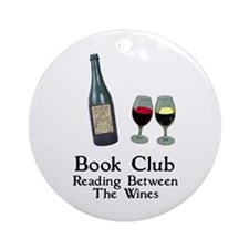 Reading Between Wines Ornament (Round)