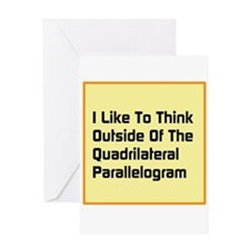 Quadrilateral Parallelogram Greeting Card