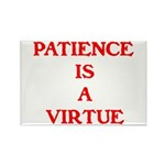 PATIENCE IS A VIRTUE™ Rectangle Magnet (10 pack)