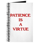 PATIENCE IS A VIRTUE™ Journal