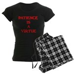 PATIENCE IS A VIRTUE™ Women's Dark Pajamas