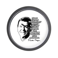 "Reagan ""Outlaw Russia Forever"" Wall Clock"