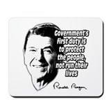 "Reagan Quote ""Protect people, not run their lives"""