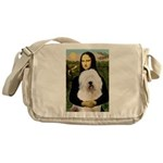 Mona's Old English Sheepdog Messenger Bag