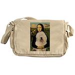 Mona's Old English Sheepdog Messenger Bag