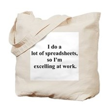spreadsheet joke Tote Bag