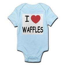I heart waffles Infant Bodysuit