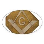 THE MORAL COMPASS VII Sticker (Oval 10 pk)
