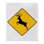 Deer crossing Throw Blanket