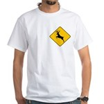 Deer crossing White T-Shirt