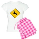 Deer crossing Women's Light Pajamas