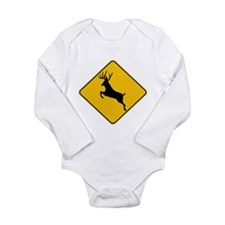 Deer crossing Long Sleeve Infant Bodysuit