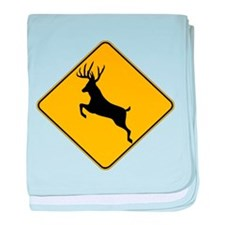 Deer crossing baby blanket