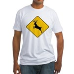 Deer crossing Fitted T-Shirt