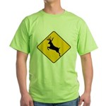 Deer crossing Green T-Shirt