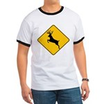 Deer crossing Ringer T