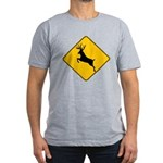 Deer crossing Men's Fitted T-Shirt (dark)
