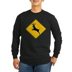 Deer crossing Long Sleeve Dark T-Shirt