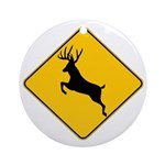 Deer crossing Ornament (Round)