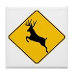 Deer crossing Tile Coaster