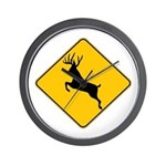 Deer crossing Wall Clock