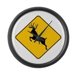 Deer crossing Large Wall Clock
