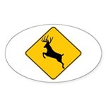 Deer crossing Sticker (Oval 10 pk)