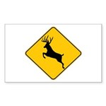Deer crossing Sticker (Rectangle 50 pk)