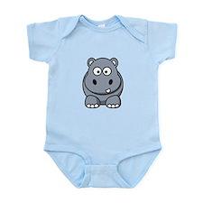 Cartoon Hippopotamus Infant Bodysuit
