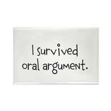 I survived oral argument. Rectangle Magnet (10 pac