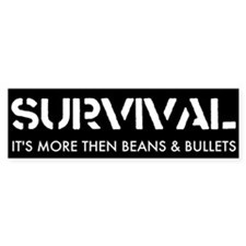 Survival Bumper Bumper Sticker