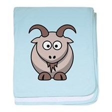 Cartoon Goat baby blanket