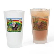 Rainbow Bright / Dachshund (w Drinking Glass