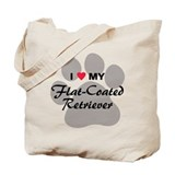 Love My Flat-Coated Retriever Tote Bag