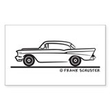 1957 Chevy Hardtop Coupe Decal