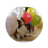 Sheltie Birthday Ornament (Round)
