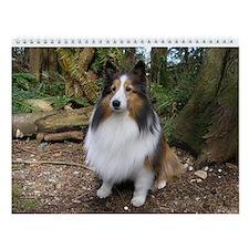 Sheltie Farm and Forest Wall Calendar