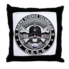 USCG Marine Science Technicia Throw Pillow