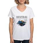 NEUTRAL Women's V-Neck T-Shirt
