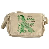 I Wear Green I Love My Son Messenger Bag