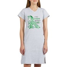 I Wear Green I Love My Sister Women's Nightshirt