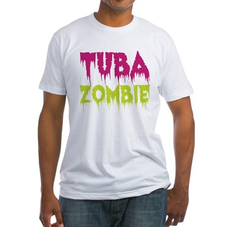 Tuba Zombie Fitted T-Shirt