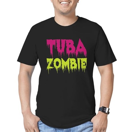 Tuba Zombie Men's Fitted T-Shirt (dark)