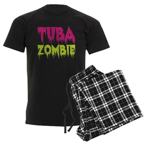 Tuba Zombie Men's Dark Pajamas
