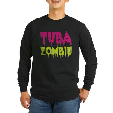 Tuba Zombie Long Sleeve Dark T-Shirt