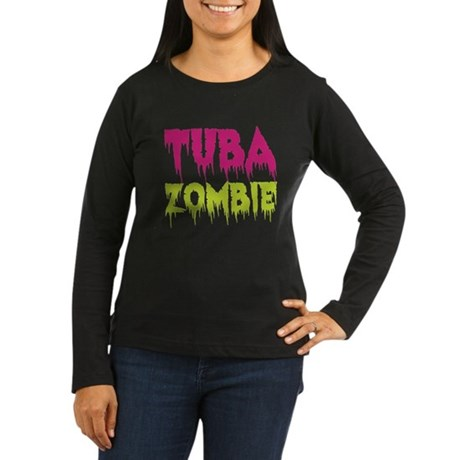 Tuba Zombie Women's Long Sleeve Dark T-Shirt